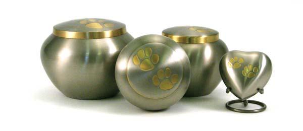 pet meadows pewter urn